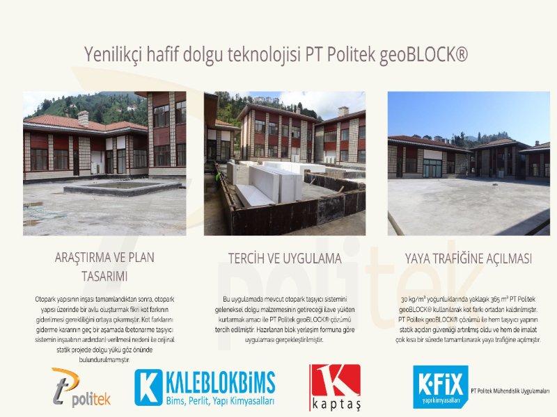 PT Politek geoBLOCK®  Uygulamaları